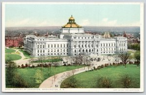 Washington DC~Birdseye of Gold Dome on Library of Congress~Detroit Pub Co~c1910