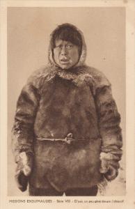 Eskimo Woman, Missions Esquimaudes, Serie VIII, O'Yak, Un Peu Gene Devant l'O...