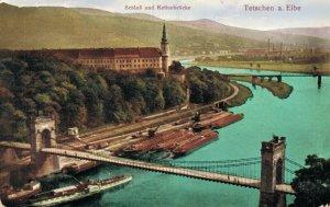 Czech Republic Schloss und Bettenbrùcke Tetschen an der Elbe Děčín 05.37