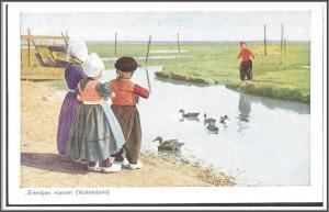 Netherlands, Holland - Children Water Ducks - [FG-154]