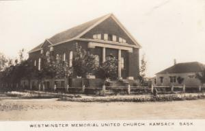 RP: KAMSACK , Sask., Canada, 1910-20s : Westminister Memorial United Church