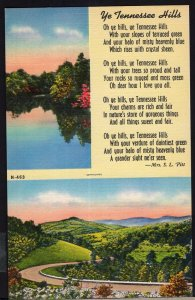 SplitView ~ Verse ~ Ye Tennessee Hills by Mrs. S.L. Pitt LINEN