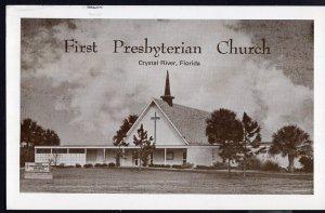 Florida CRYSTAL RIVER First Presbyterian Church - pm1986 Real Photo Postcard