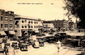 Keene, New Hampshire - A view of Main Street in the 1920s