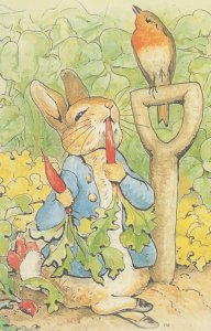 The Tale Of Peter Rabbit Beatrix Potter Munching Radishes Postcard