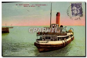 Postcard Old Saint Nazaire Le Saint Christophe boat Mindin