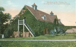 Old Barn at Mt. Vernon, VA, Washington's old Coach, early...