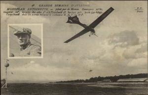 Pioneer Aviation Airplane Monoplane Antoinette Grande Semaine Pilot Mumm PC