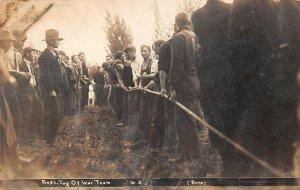LPS78 Pullman Oregon Frosh Tug of War Team Postcard RPPC