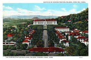 Administration Blmg, Balboa, Panama Canal Zone w/1936 Havana Postmark /Stamp C10