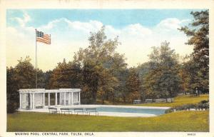 Tulsa Oklahoma~Central Park Wading Pool~Postcard 1923