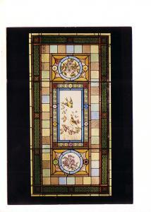 Stained Glass Birds, Flowers, Clifford Shand House, Windsor, Nova Scotia, Dep...