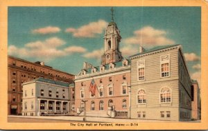 Maine Portland City Hall Dexter Press