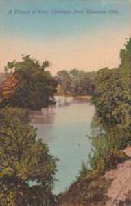 Ohio Columbus Glimpse Of River In Olentangy Park 1909