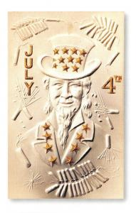 Postcard USA Fourth of July Postcard of Uncle Sam