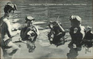 SCUBA Diving Teela-Wooket Horseback Riding Camp Roxbury VT Postcard