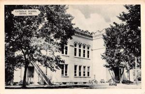 Edina Missouri Catholic School Street View Antique Postcard K57778