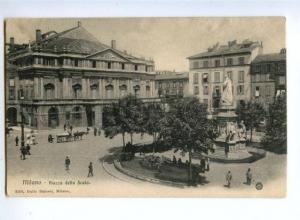 155686 ITALY MILANO Piazza della Scala Vintage postcard