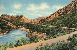 Linen of Rio Grande Canyon Highway 64 Santa Fe to Toas NM