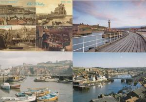 Whitby Jet Market Stall in 1904 Rainbow at Harbour 4x Postcard s