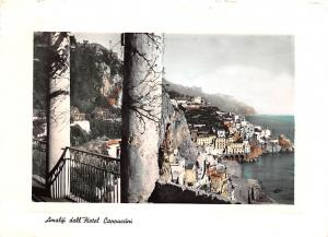 Italy Old Vintage Antique Post Card Amalifi dall'Hotel Cappuccini 1957
