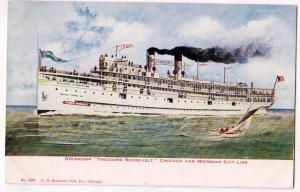 Steamship Thedoore Roosevelt, Chicago & Michigan City Line