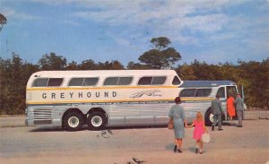 Buses/Bus Stations Post Card Greyhound Bus 1963