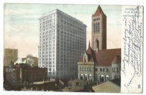 Pittsburgh, Frick Building and Court House PPC, 1907 East Pittsburg to Kilmaurs