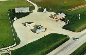 Milwaukee Wisconsin~Birdseye M&E Restaurant~Coulter's Texaco~Semi-Truck~1950s