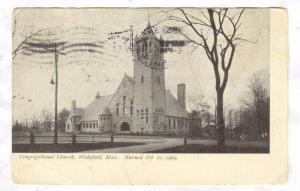 Congregational Church, Wakefield, Massachusetts. Burned February 21, 1909, PU...