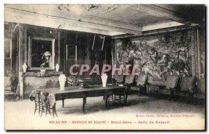 Old Postcard Hospices de Beaune Hotel Dieu Boardroom