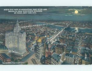 Divided-Back VIEW FROM THE WOOLWORTH BUILDING New York City NY i1490