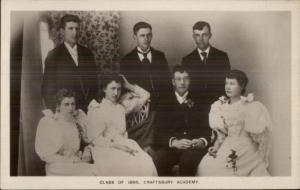 Craftsbury VT Vermont Class of 1895  - c1910 Real Photo Postcard