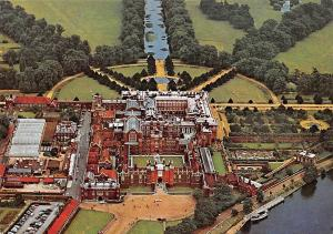 Hampton Court Palace Middlesex Air view from North West