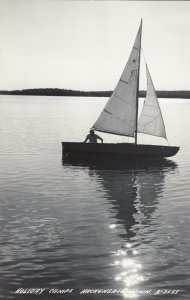 RP: HACKENSACK , Minnesota, 1930-40s ;  Holiday Camps, Sailboat on the Water