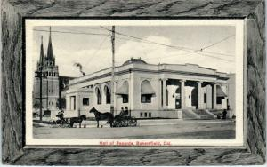 BAKERSFIELD, CA California  HALL of RECORDS Horsedrawn   1913  Glosso Postcard