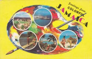 5 Views, Colorful Jamaica in Artist's Painting Tray, 1940-60S