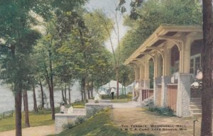 LAKE GENEVA, Wisconsin, 1900-10s; The Terrace, Weidensall Hall, Y.MC.A. Camp