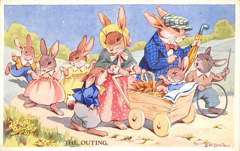 The Outing, EH Davie Valentines Rabbit Unused