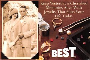 Jewelry Advertising Old Vintage Antique Post Card Best 1988