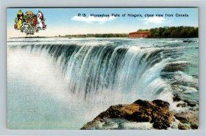Niagara Falls ON, Horseshoe Falls, Vintage Ontario Canada Postcard
