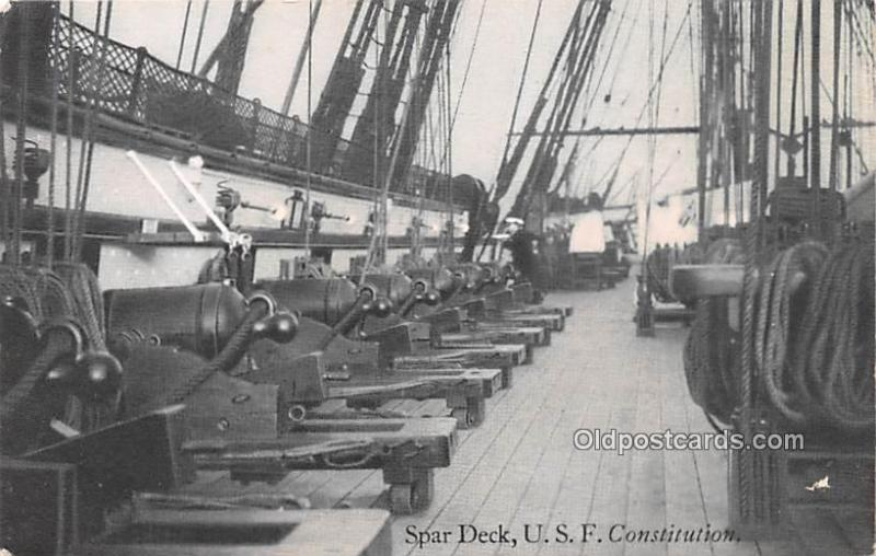 Military Battleship Postcard, Old Vintage Antique Military Ship Post Card Spa...