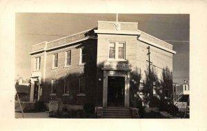 RPPC High River Post Office Alberta Canada Lane's Studio c1930s Vintage Postcard