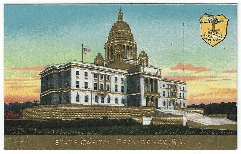 Providence, Rhode Island, Early View of The Rhode Island State Capitol