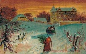 Amazing Embossed Vintage Santa Claus Postcard RARE 04.02