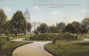 State Capitol And Grounds From L Street Entrance Sacramento California