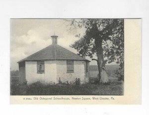Old Octagonal Schoolhouse, Newton Square, West Chester PA Rotograph Postcard