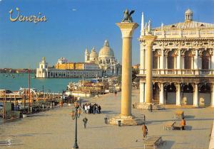 Italy Venezia Santa Maria della Salute Boats General view Statue