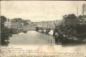 Norwich CT Railroad Bridge 1905 Rotograph Postcard