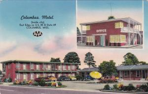 COLUMBUS, Mississippi, 40-60s; 2 Views Of Columbus Motel